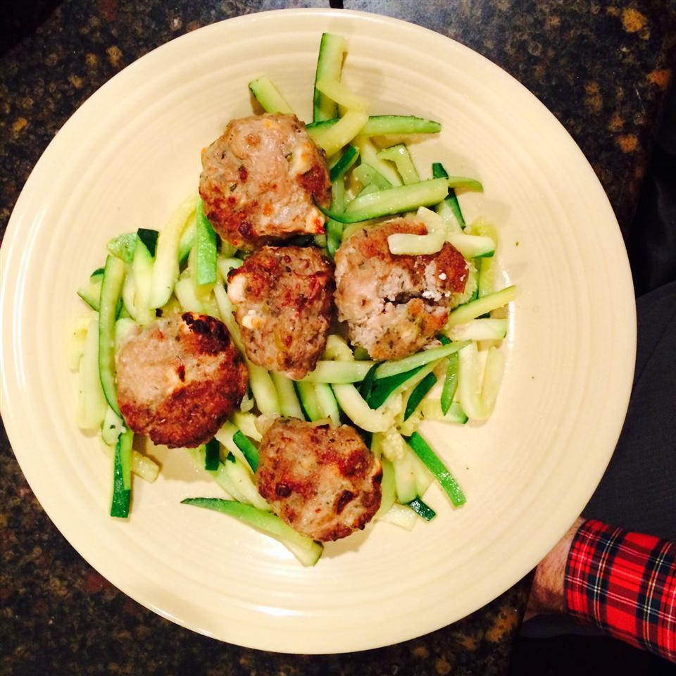 Feta and Olive Meatballs peapod123