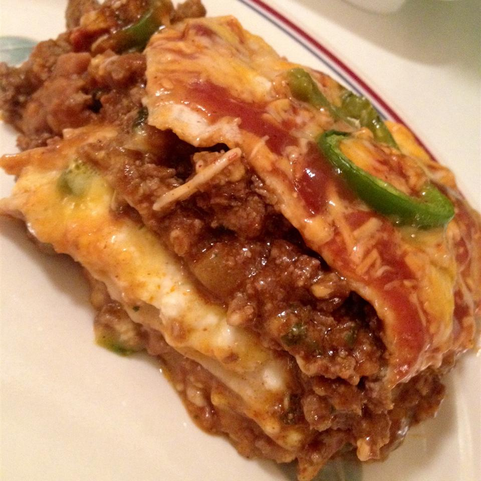 Mexican Lasagna with Cactus Kristy Campbell