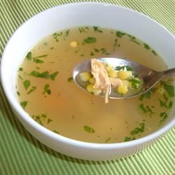 Corn and Chicken Soup Fit&Healthy Mom