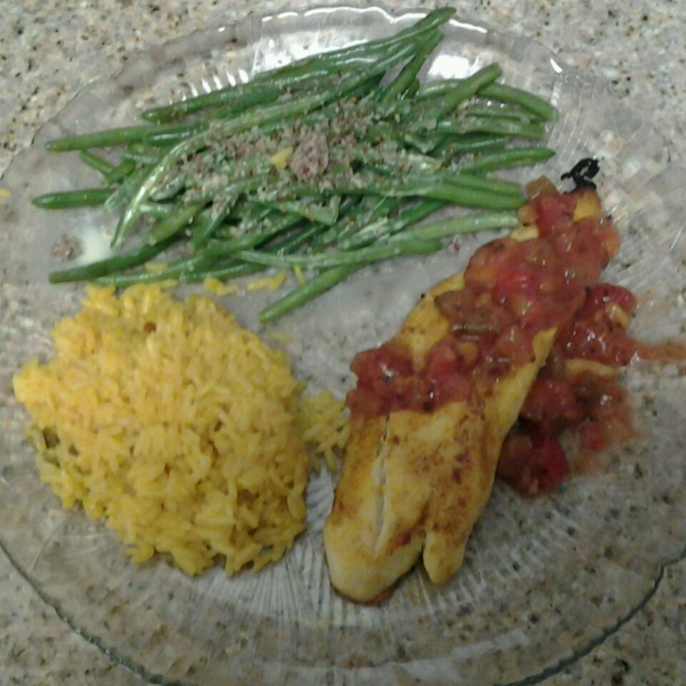 Curried Tilapia with Mango Salsa Richard Grieser