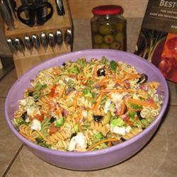 Rainbow Pasta Salad Sandy Burke Moody