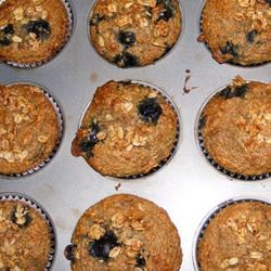 Blueberry Nut Oat Bran Muffins