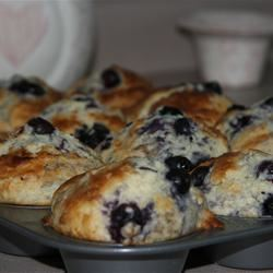 Low-Cholesterol Blueberry Muffins II miss spice