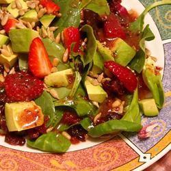Wonderful Raspberry Walnut Dinner Salad ~TxCin~ILove2Ck