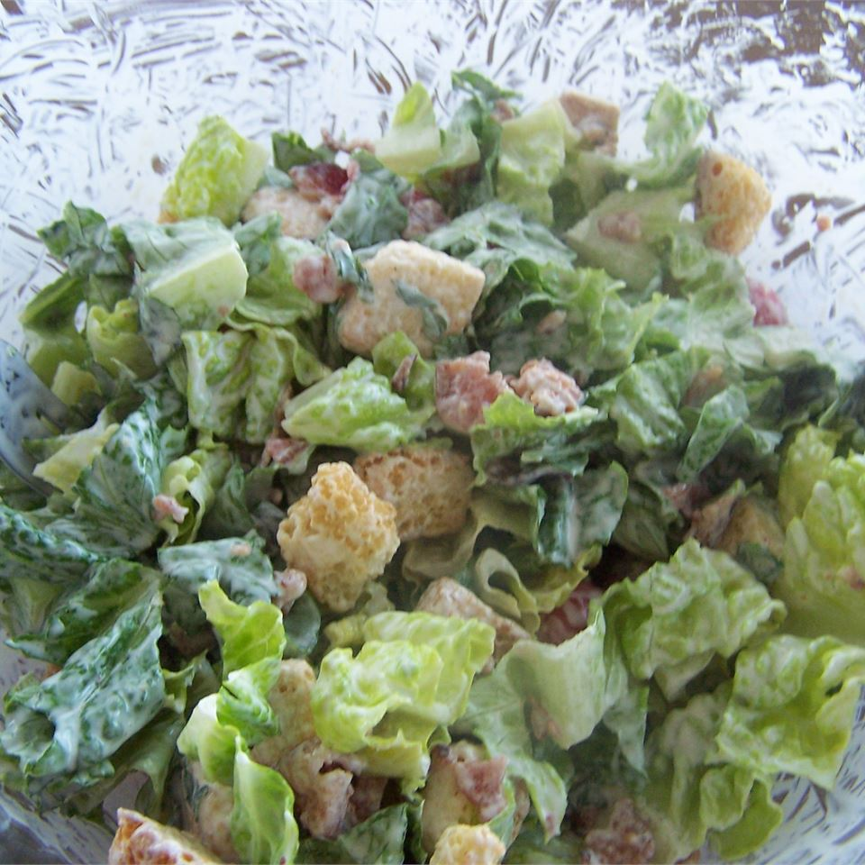 B.L.T. Salad with Basil Mayo Dressing Krista L.