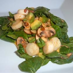 Hearts of Palm and Spinach Salad Fit&Healthy Mom
