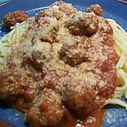 Italian Spaghetti Sauce with Meatballs Marvelous