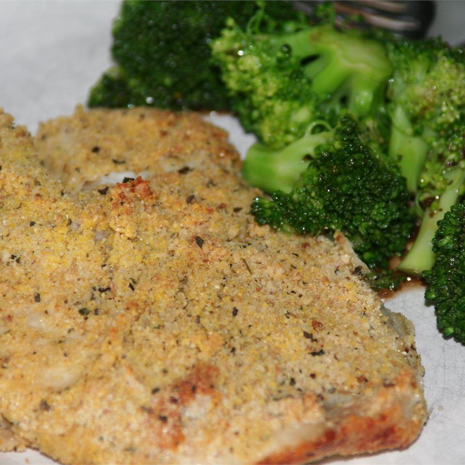Crunchy Oven Fried Tilapia kristen m