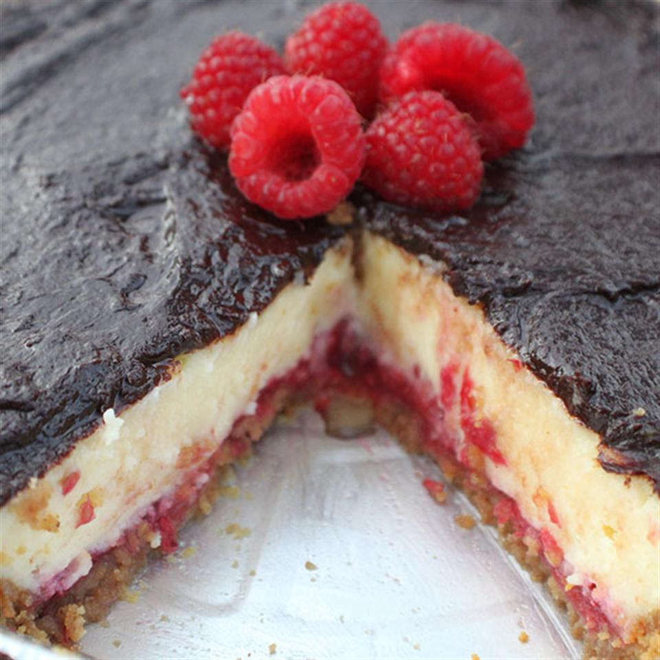 Chocolate Raspberry Cheesecake image