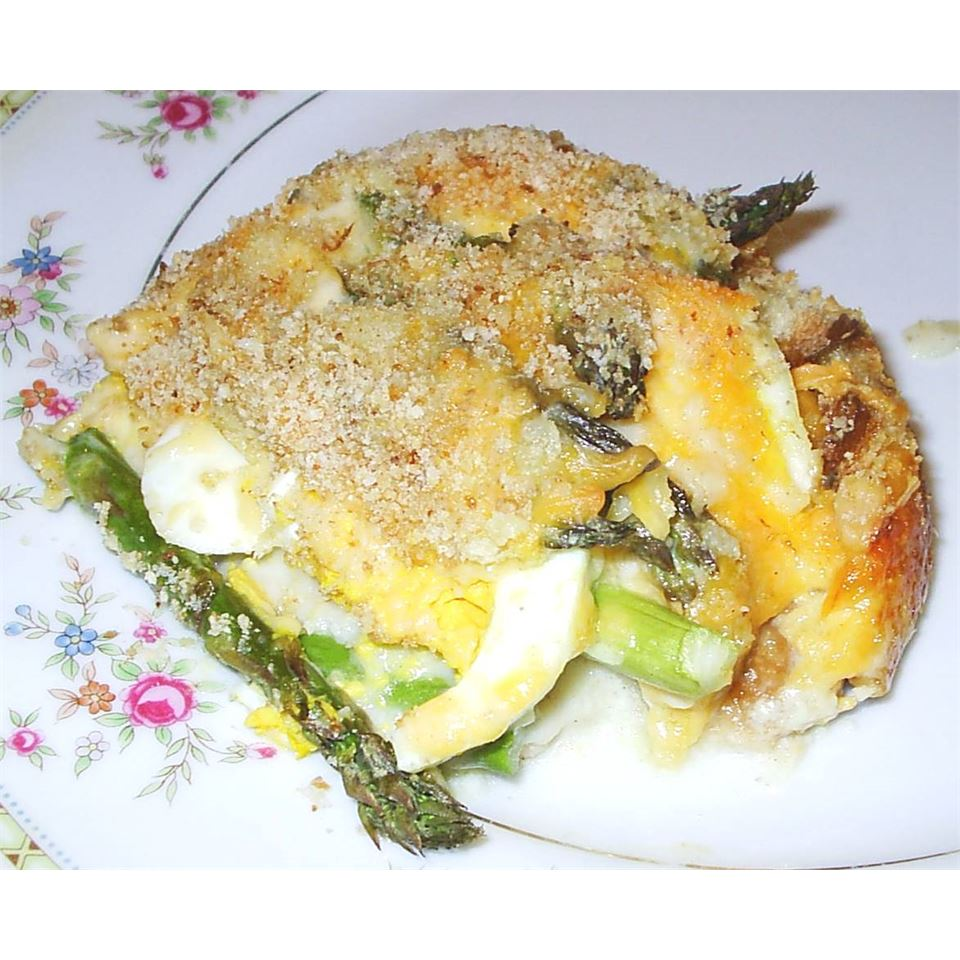 Asparagus Casserole with Hard-Boiled Eggs Holly J Chadwick