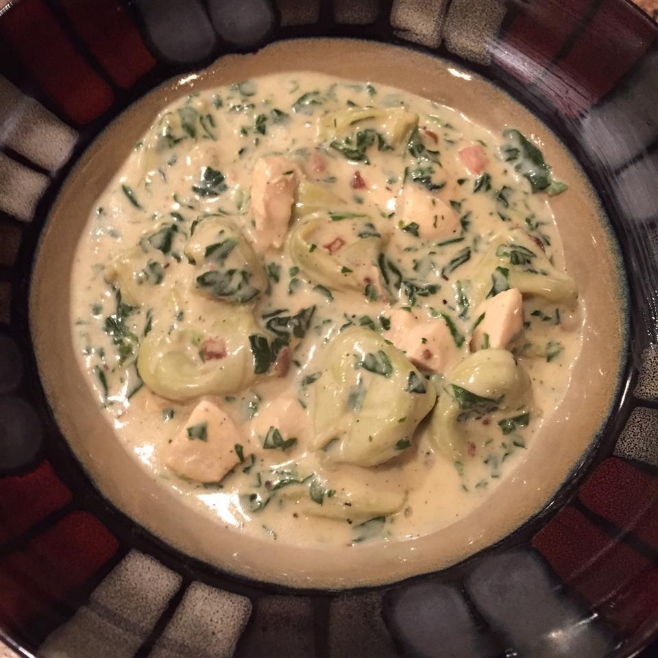 Creamy Chicken Tortellini Soup