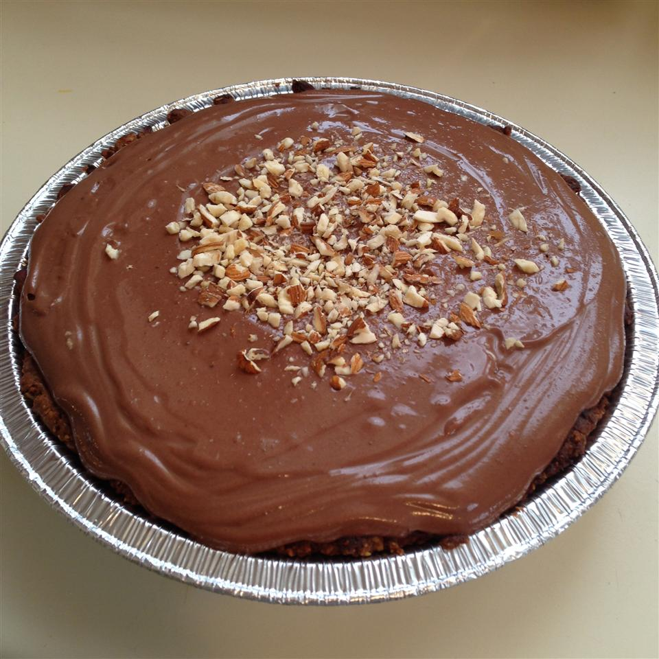 """Tofu and melted chocolate are blended into a silky pudding and poured into a homemade pie crust made with graham crackers and almonds. """"There are many variations that can be done to this versatile recipe, its limited only by your imagination,"""" says aquariuscook. """"Love this one and so will your kids!"""""""