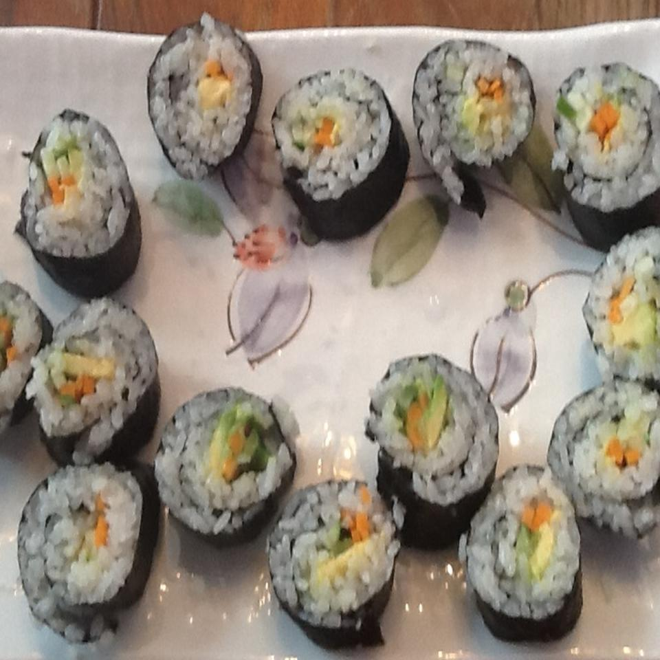 Homemade Vegetable Sushi