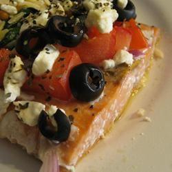 Greek-Style Baked Salmon Dianne