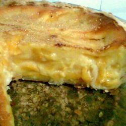 Sour Cream Peach Pie lorena