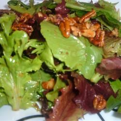 Mixed Greens with Walnut and Roasted Onion Dressing Fit&Healthy Mom