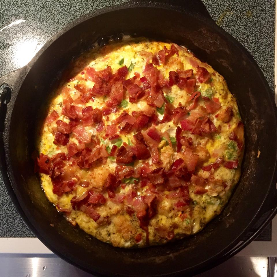 Rosemary, Bacon, and Tomato Frittata