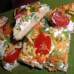 Vegetable Pizza Squares Alida Rovetto