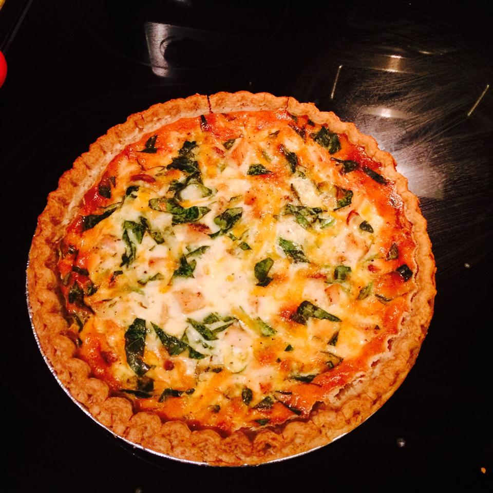 Spinach Quiche with Chicken Miriam