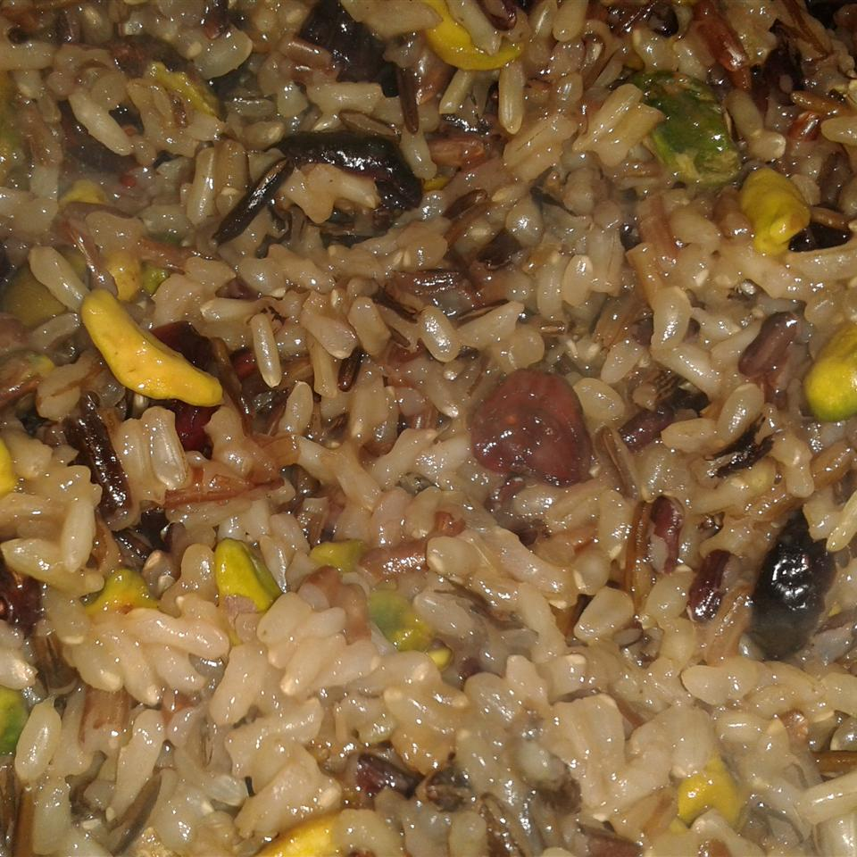 Orange Wild Rice with Pistachios and Cranberries CupcakeSparkles11