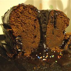 Buttermilk Chocolate Cake with Fudge Icing Ingrid