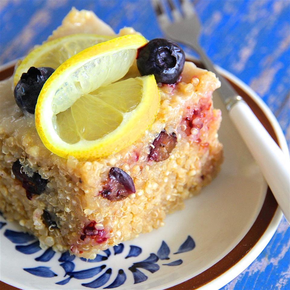 Blueberry Quinoa with Lemon Glaze
