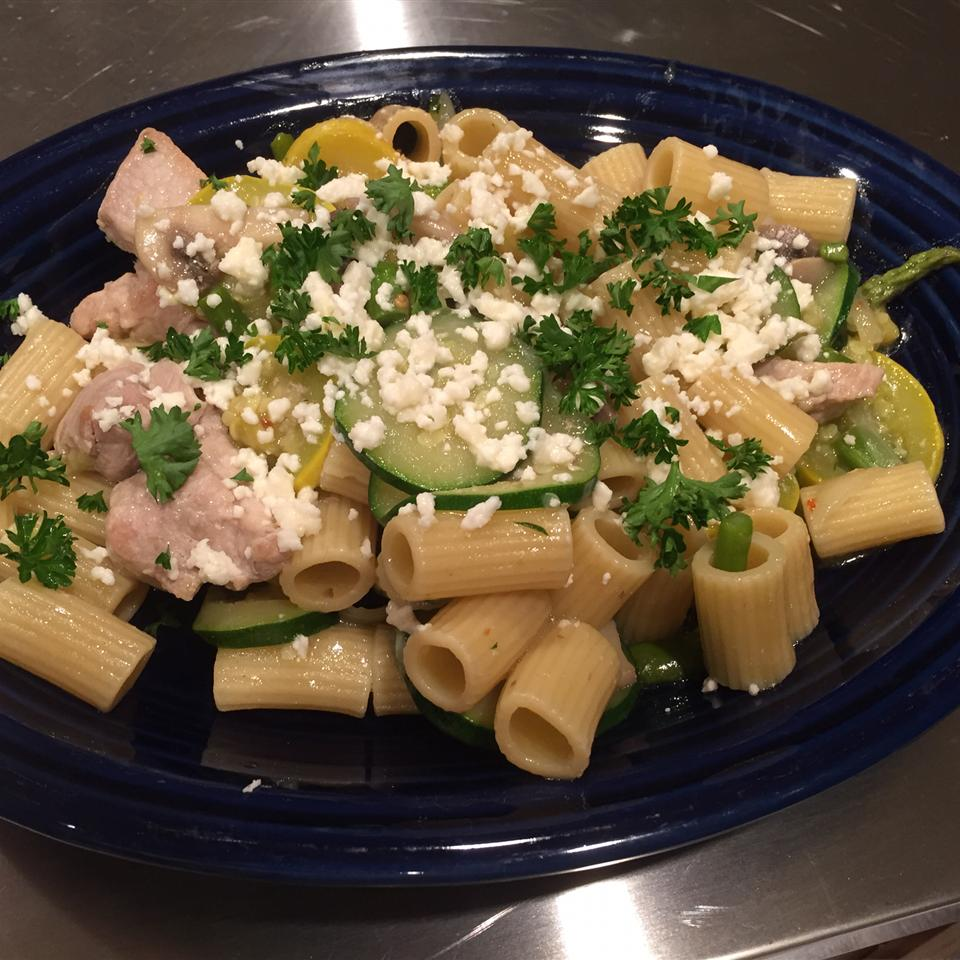 Veggie Chicken Pasta stonecooker