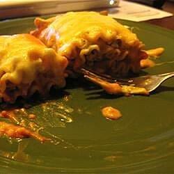 grilled chicken and portobello lasagna rollups recipe