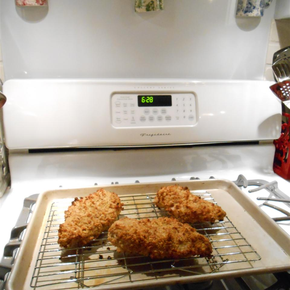 Crispy Juicy Oven-Fried Chicken Breasts