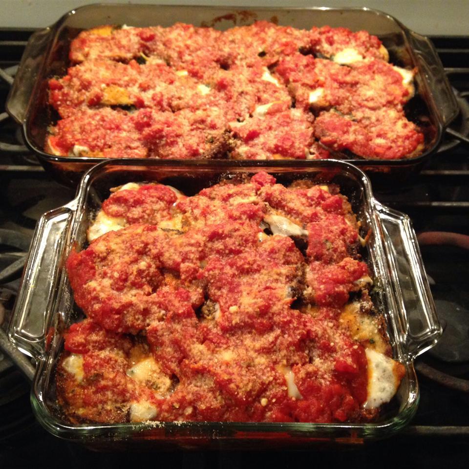 Eggplant Parmesan with Fresh Basil and Smoked Mozzarella Kent Rosenbaum