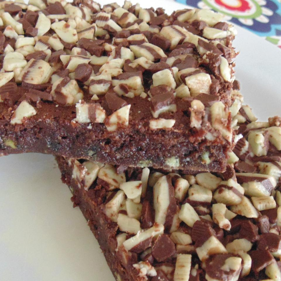 """Laura's """"Thin Mint"""" Brownies"""