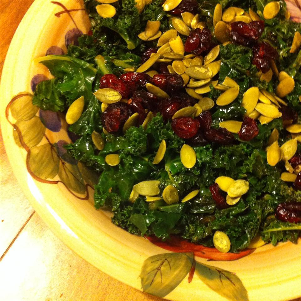 Kale Cranberry Pepita Salad abby