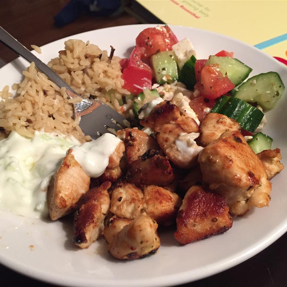 Chicken Souvlaki with Tzatziki Sauce KristenCornell