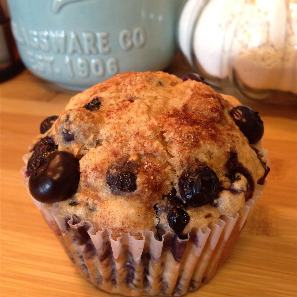 Jumbo Whole Wheat Blueberry Muffins Andrea