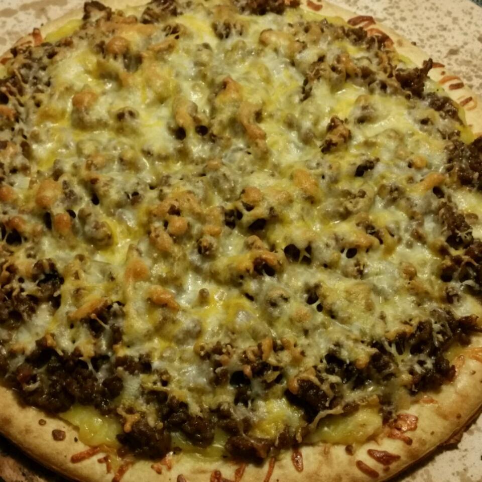 Quick Beef Pizza