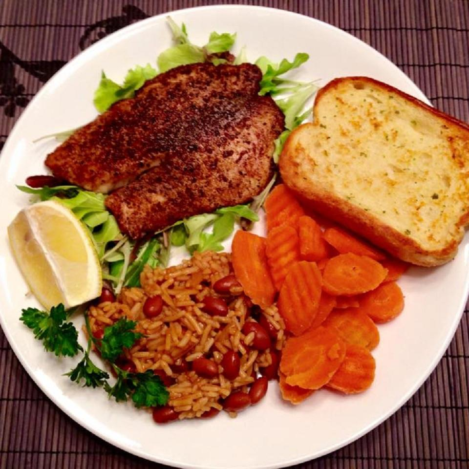 Salted and Blackened Tilapia