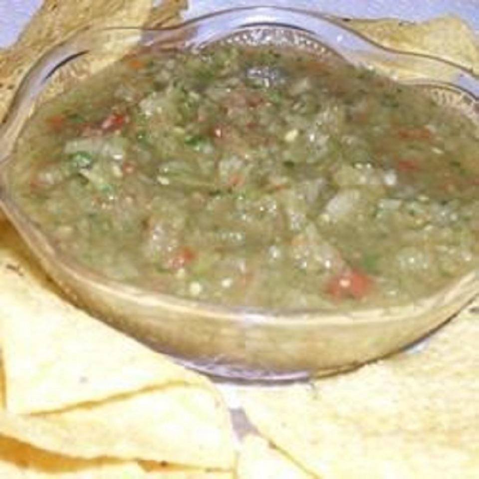 Spicy Green Tomato Salsa Tammy Huguenin