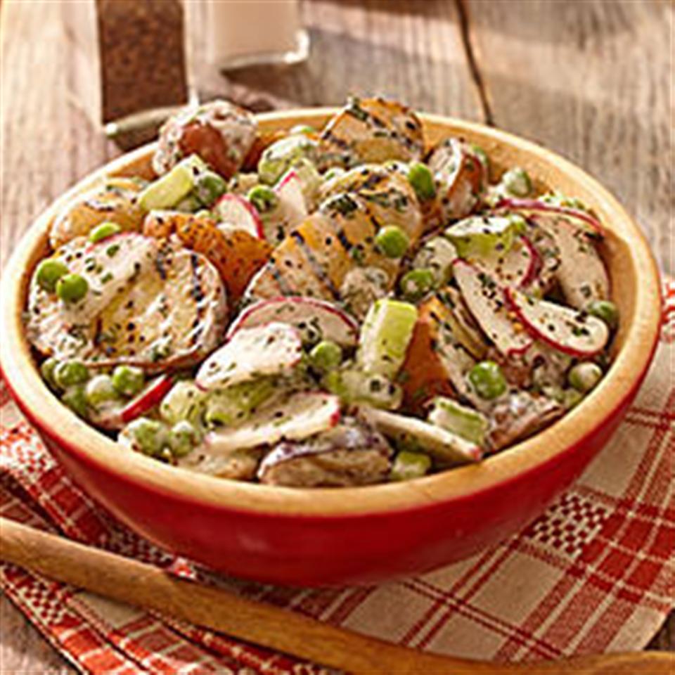 Creamy Herb Grilled Potato Salad