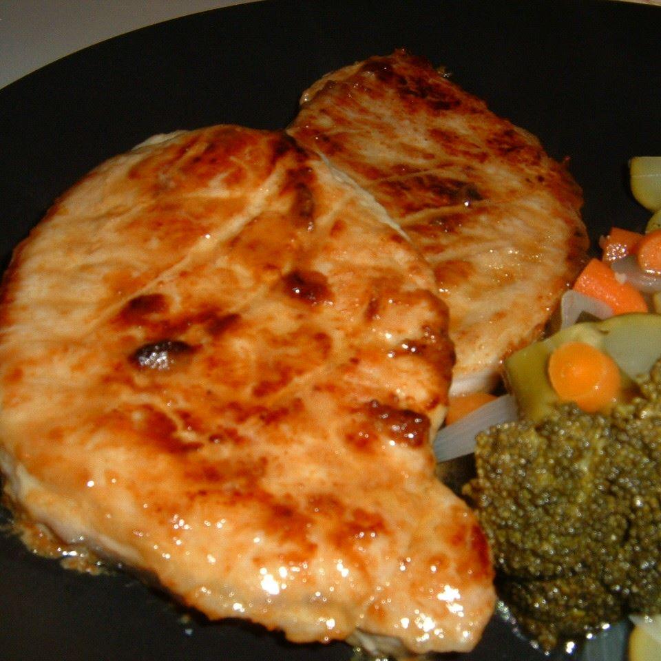Honey Mustard BBQ Pork Chops Caroline C