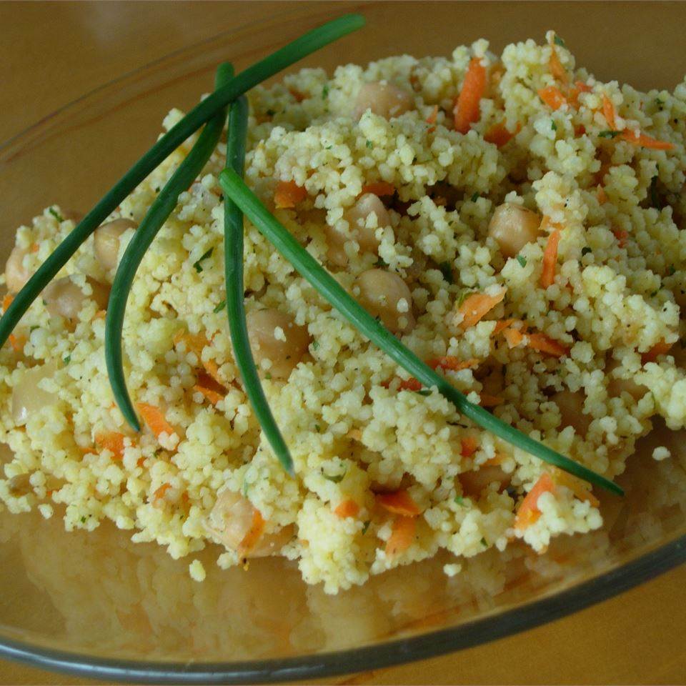 Couscous with Chickpeas and Carrots larkspur