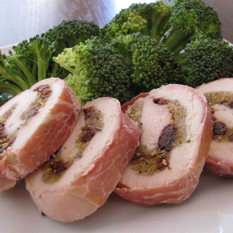 prosciutto wrapped cherry stuffed chicken breasts recipe