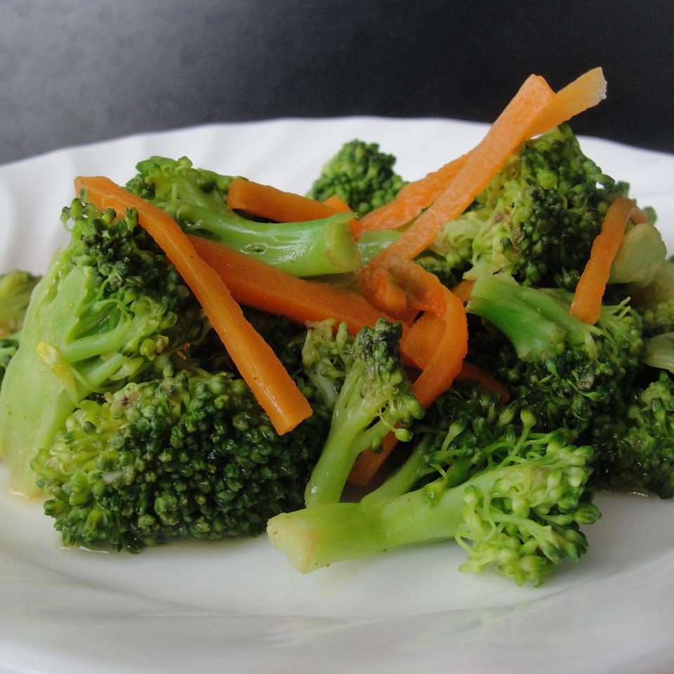 Steamed Broccoli and Carrots with Lemon Andrea Fahlor