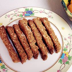 Ginger Biscotti with Pistachios J. Storm