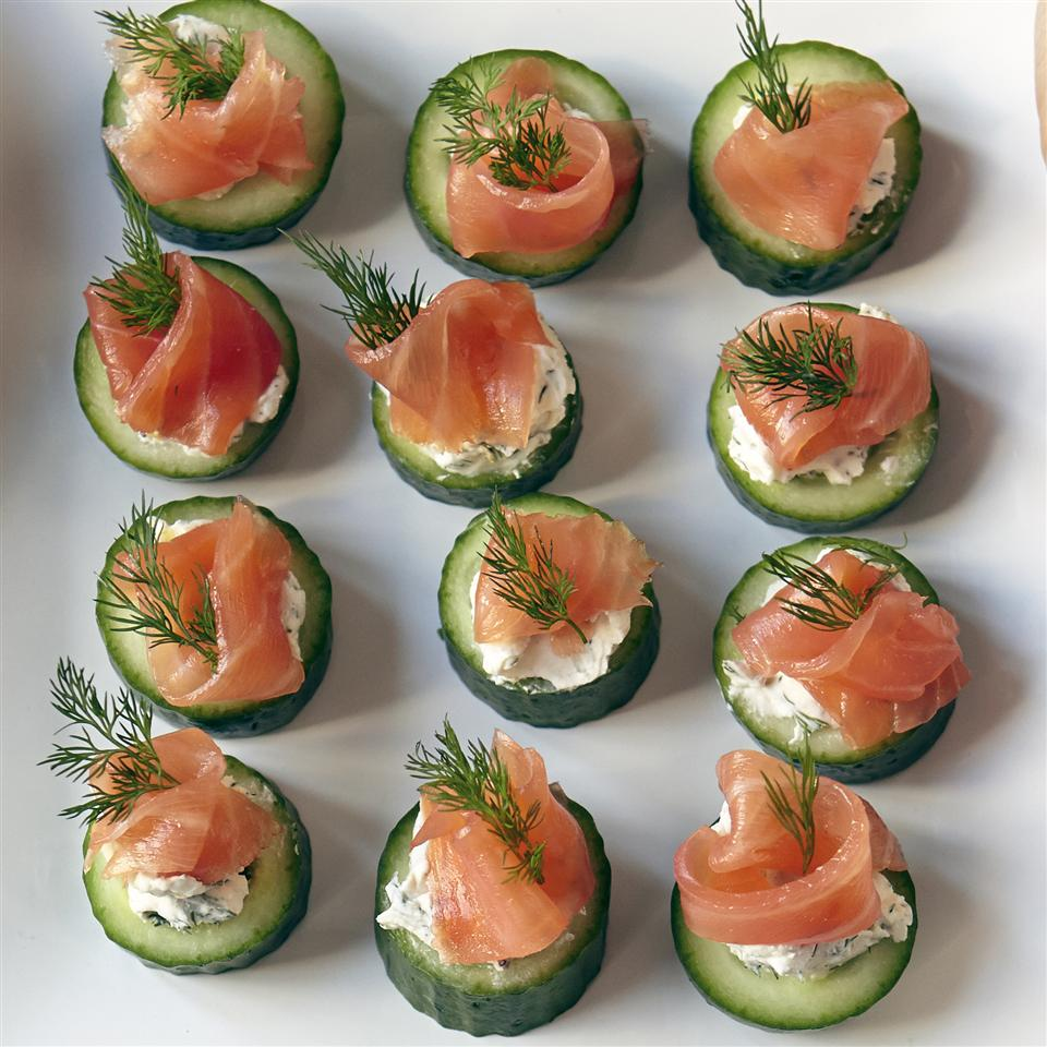 Cucumber Cups with Dill Cream and Smoked Salmon image