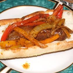 Best Ever Sausage with Peppers, Onions, and Beer!