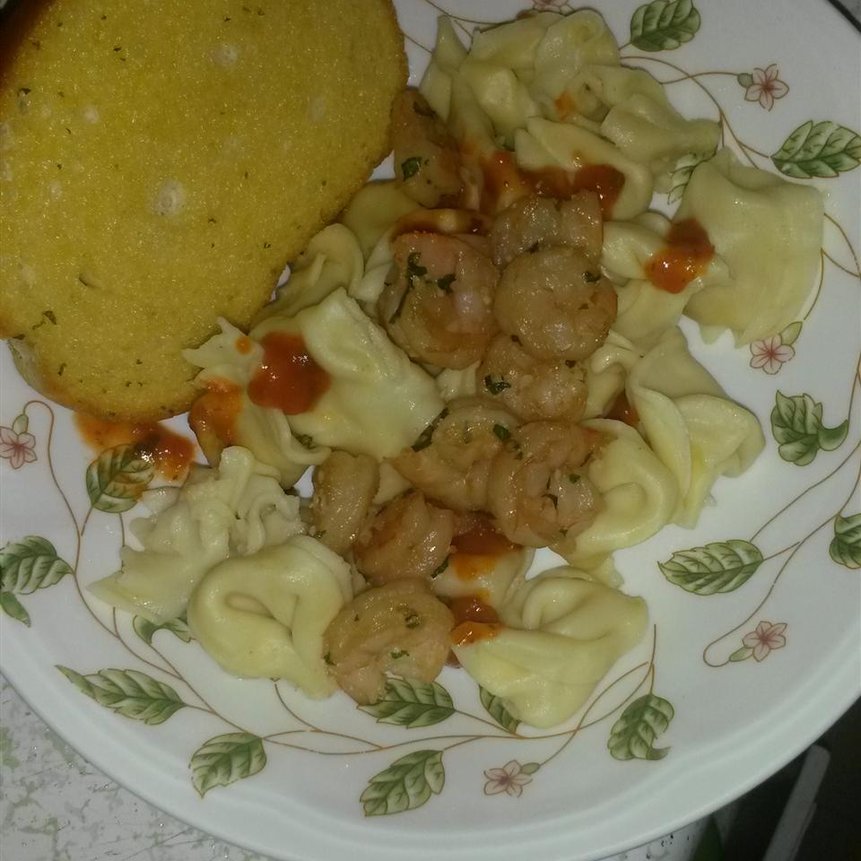 Garlic Shrimp with Three Cheese Tortellini Samuel & Francisca Gutierrez