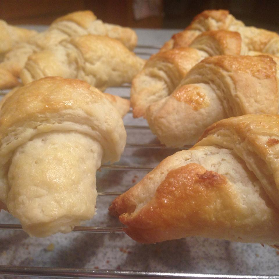 Traditional Layered French Croissants