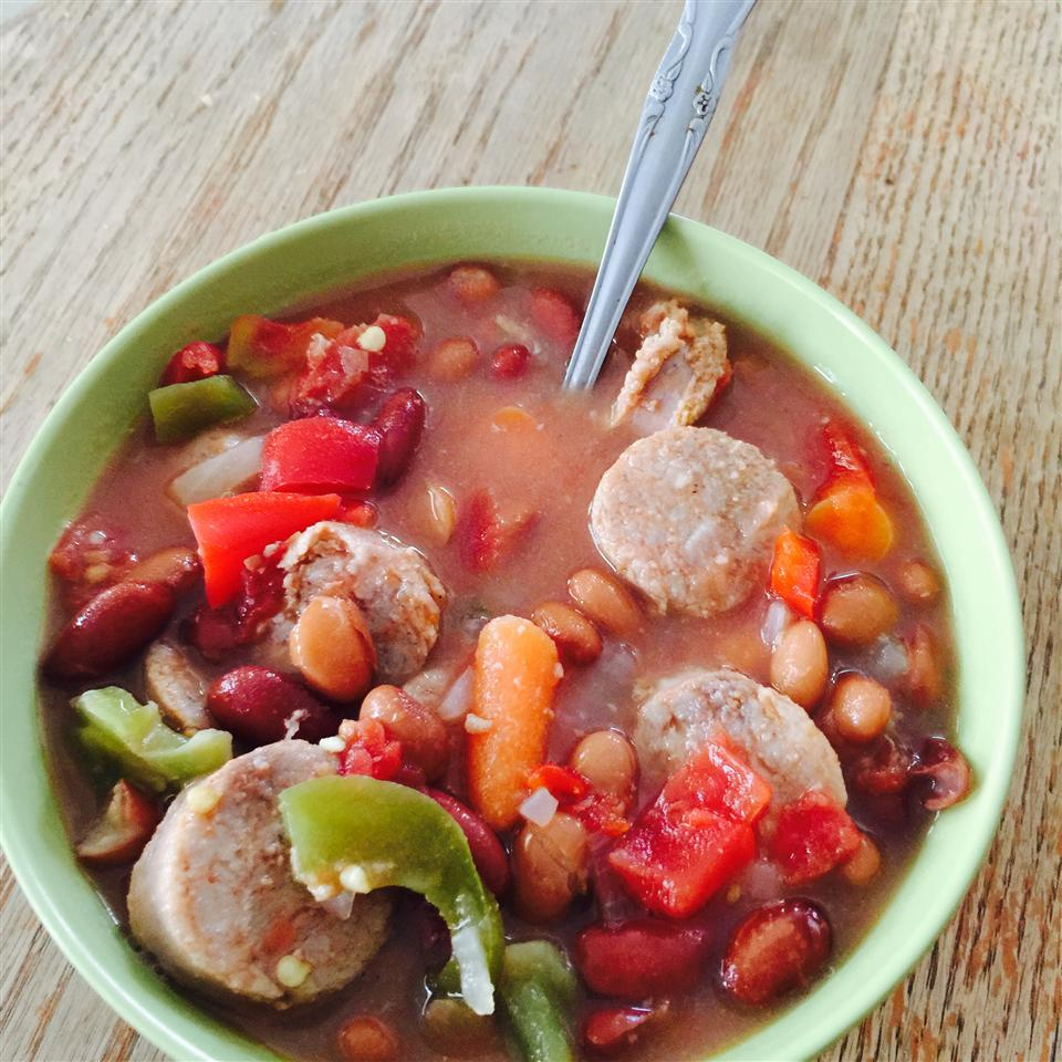 Bean and Sausage Soup Margaret Rolfe