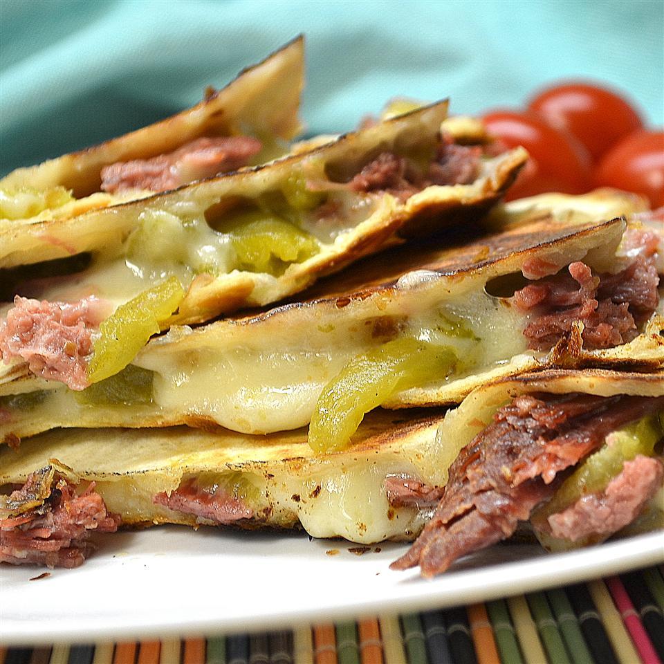 Southwestern Corned Beef Quesadillas! *Sherri*