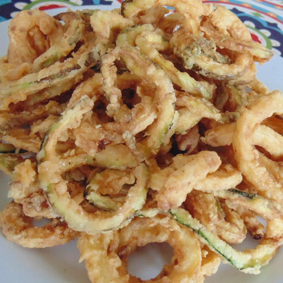Deep-Fried Zucchini Spirals Christina